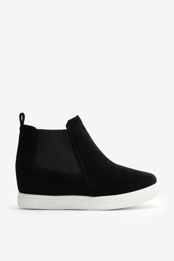 Wedge Sneakers with Elastic Inserts