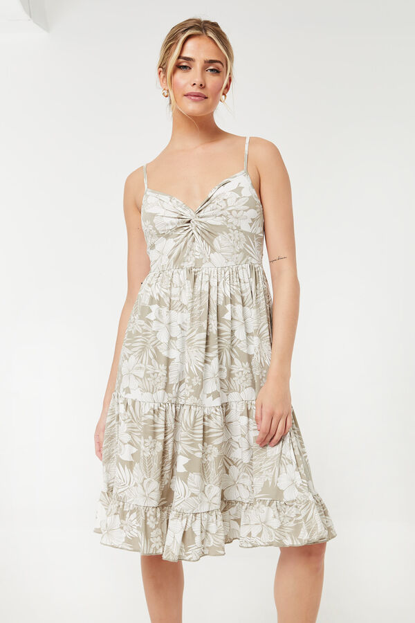 Twisted Tiered Cami Dress