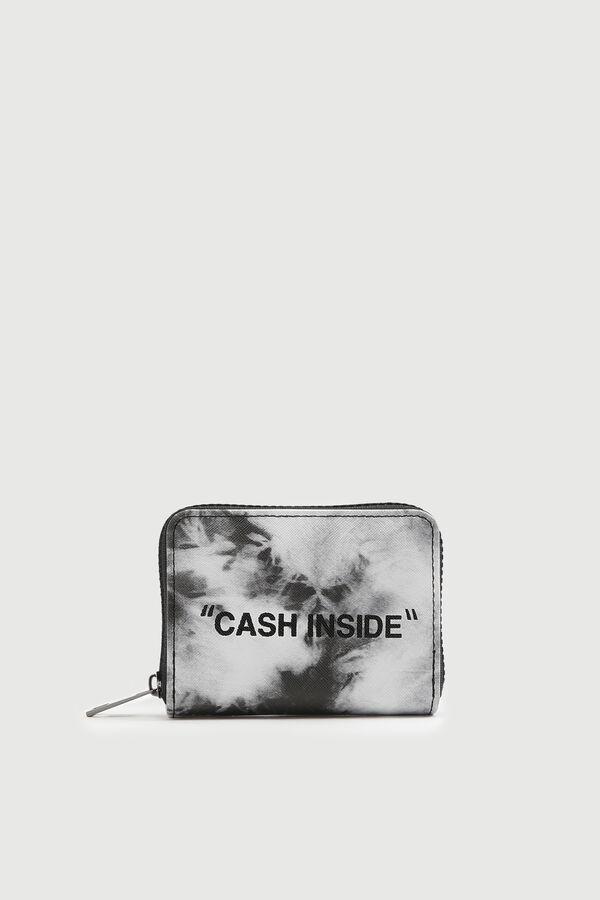 Tie-dye Mini Wallet with Slogan