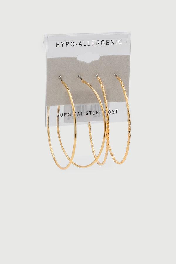 Paquet d'anneaux d'oreilles torsadés