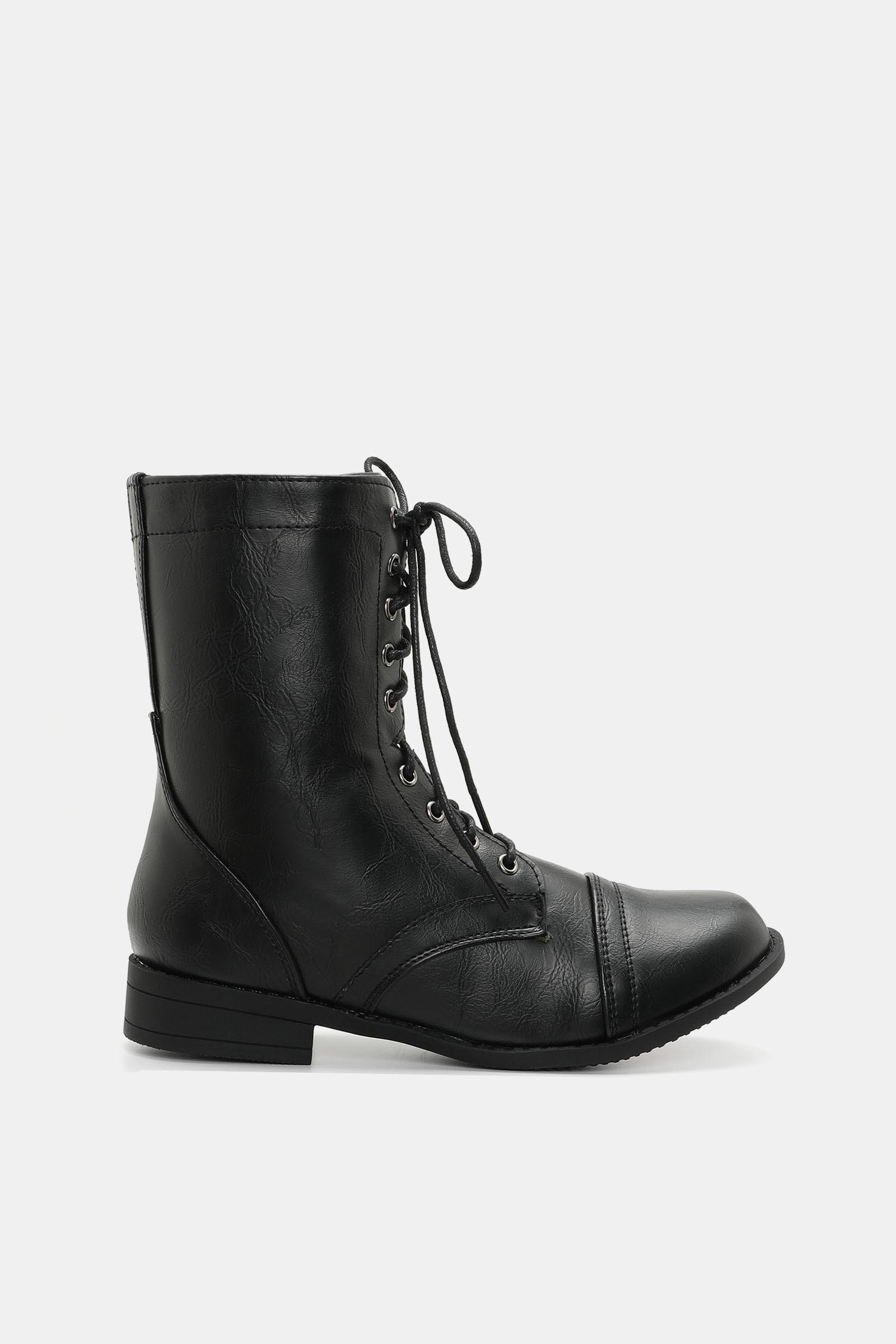 Cap Toe Combat Boots - Shoes   Ardene