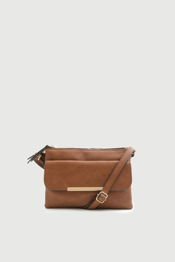 Casual Faux Leather Crossbody