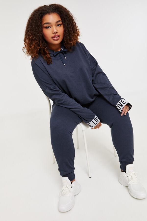 24cdf1f63c Ardene Ardene Women's Plus Size Love Joggers, blue, fall winter 2019  CLOTHING, Style 9A ...