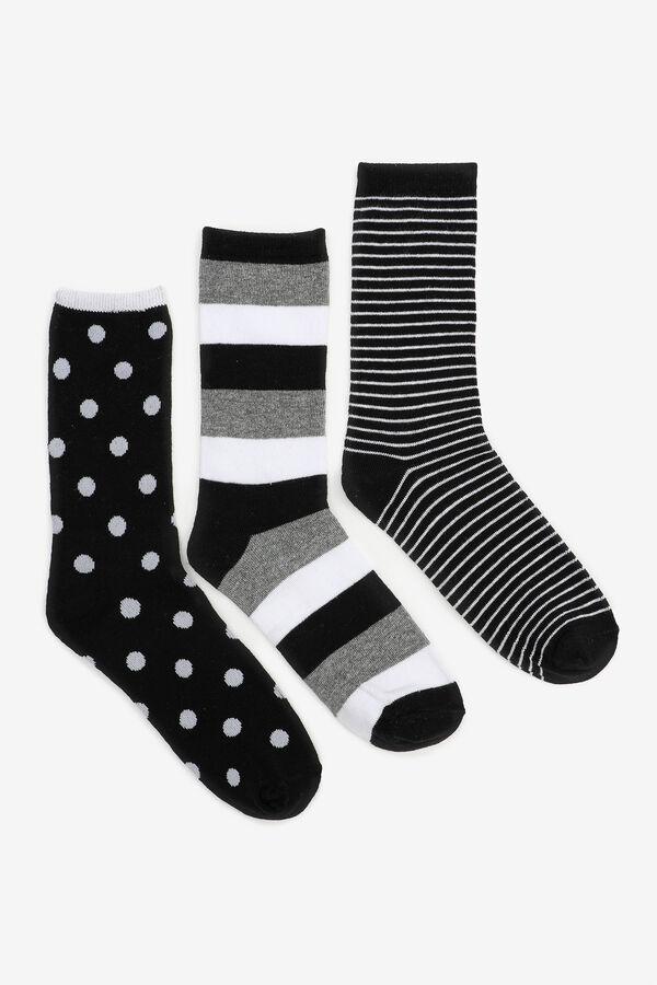 Pack of Polka Dots & Stripes Crew Socks