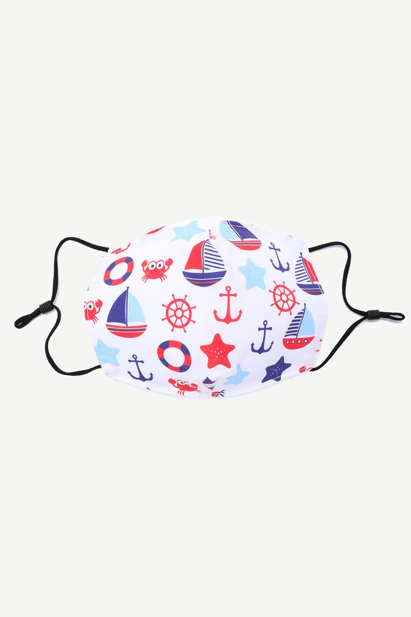 Nautical Face Covering for Kids