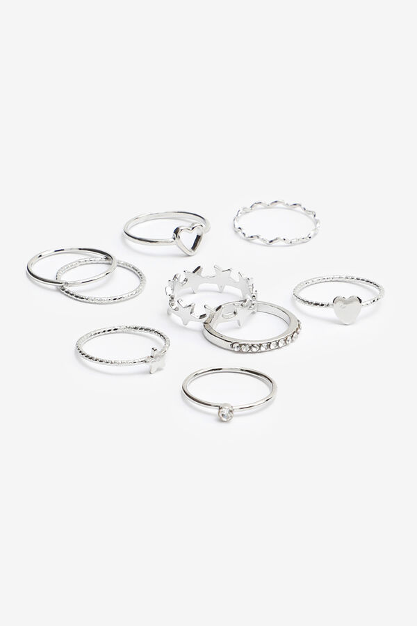Pack of Star and Heart Rings