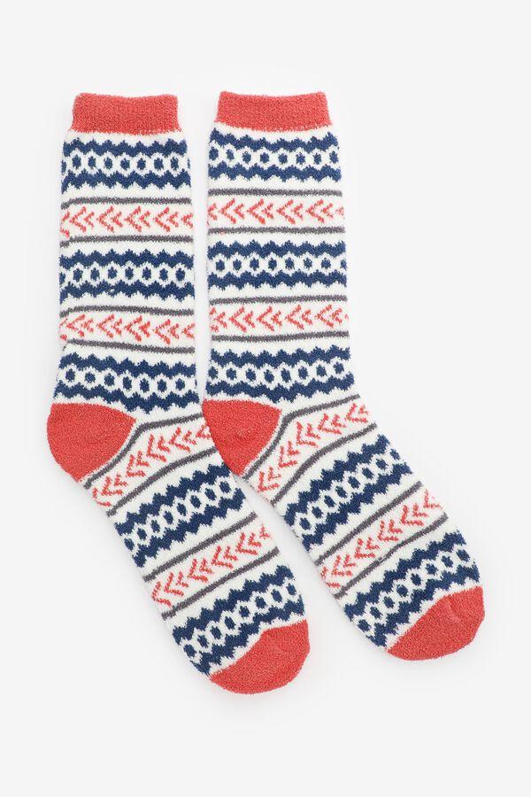 Multi Print Cozy Socks