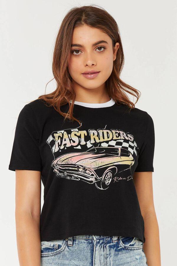 T-shirt ringer court Fast Riders