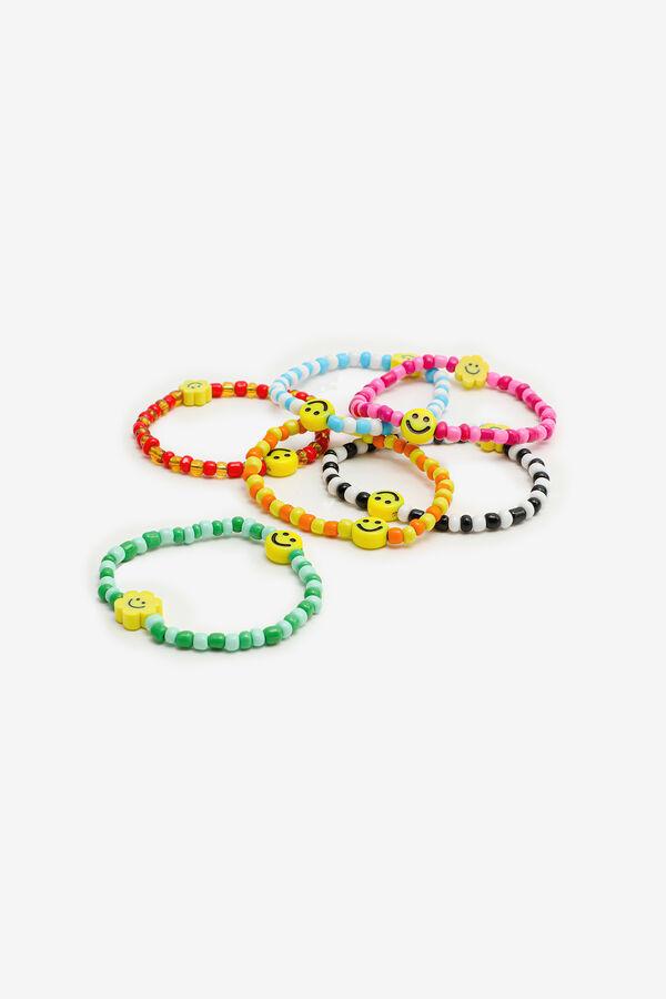 6-Pack Happy Face Bracelets