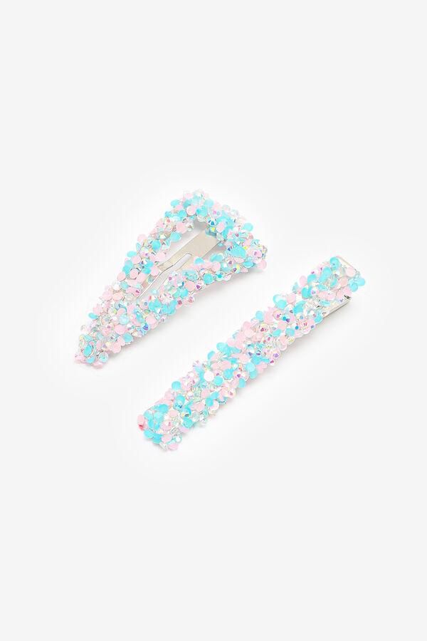 Pinces à cheveux en cristaux multicolores