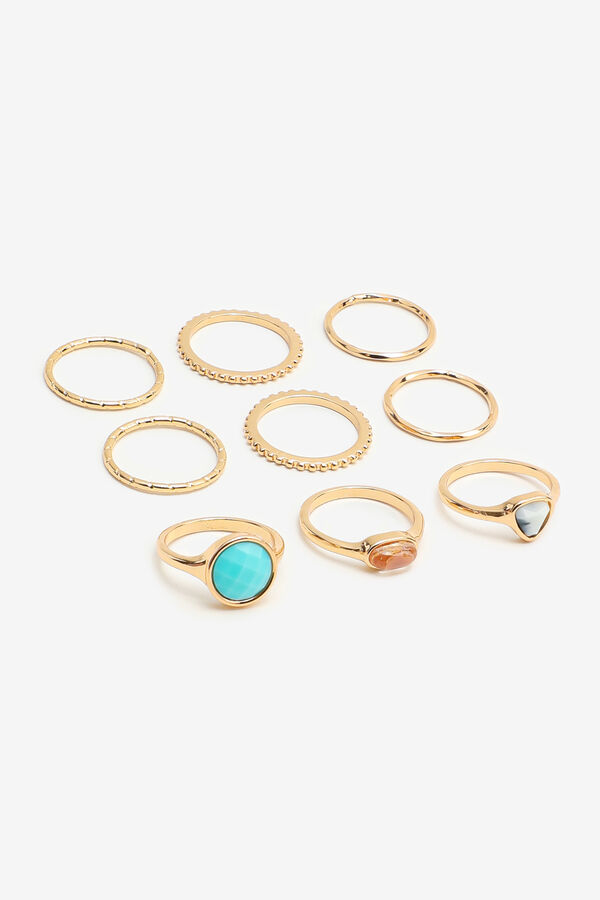 Pack of 9 Assorted Rings