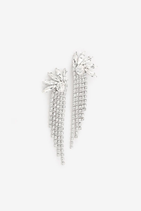 Boucles d'oreilles pendantes à cristaux
