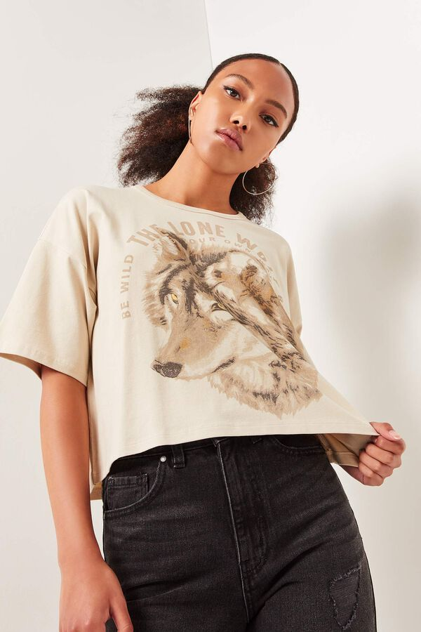 Wolf Dropped Shoulder Tee