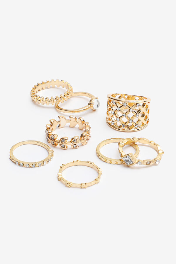 Pack of Embellished Rings