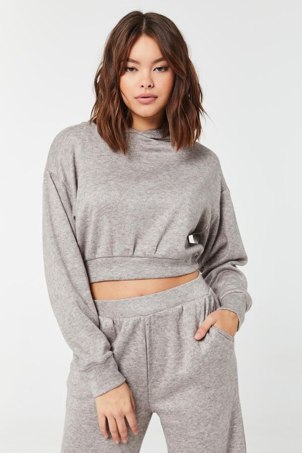 Think Knit Cropped Hoodie