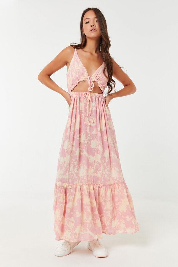 Peekaboo Front Tie Maxi Dress