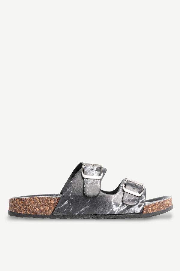 Sandales marbrées glissières à boucle