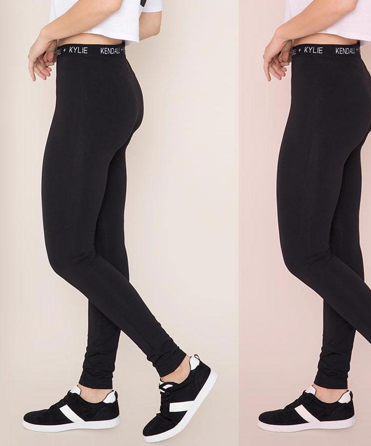 Kendall & Kylie Blackout Logo Leggings
