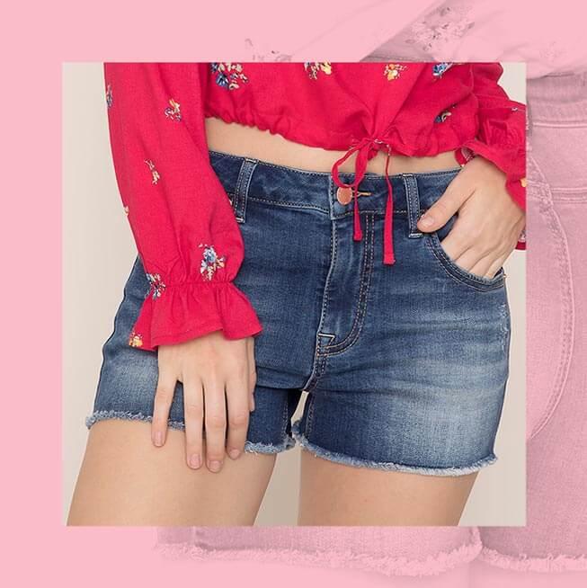 Kendall & Kylie Cut Off Faded Denim Shorts