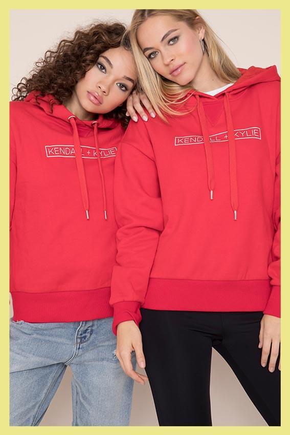Kendall & Kylie Logo Hoodie