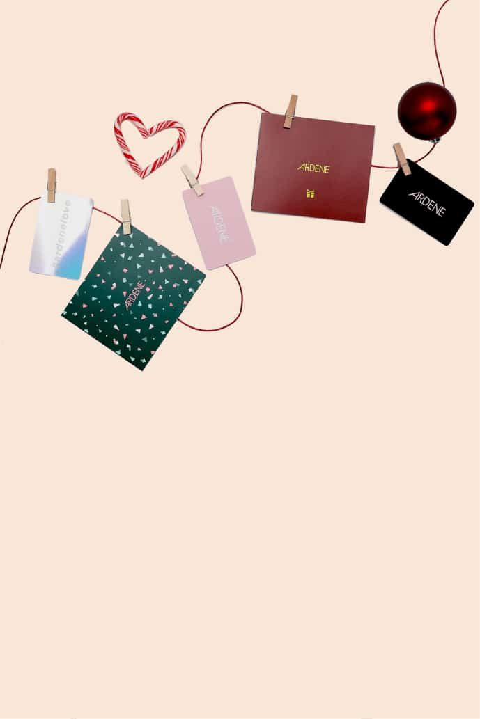 Holiday gift cards from Ardene