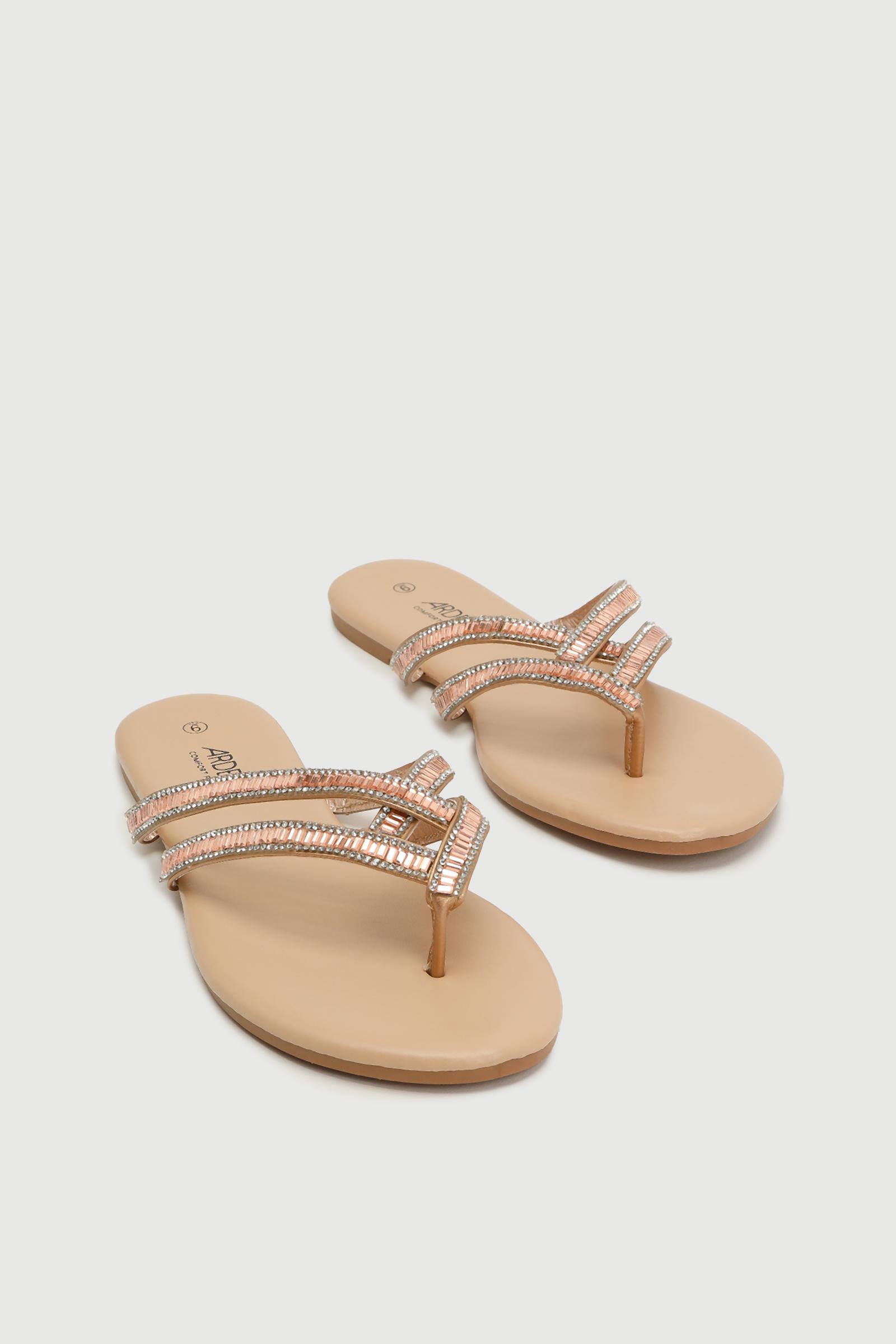 Gemstone Strap Flip-Flops