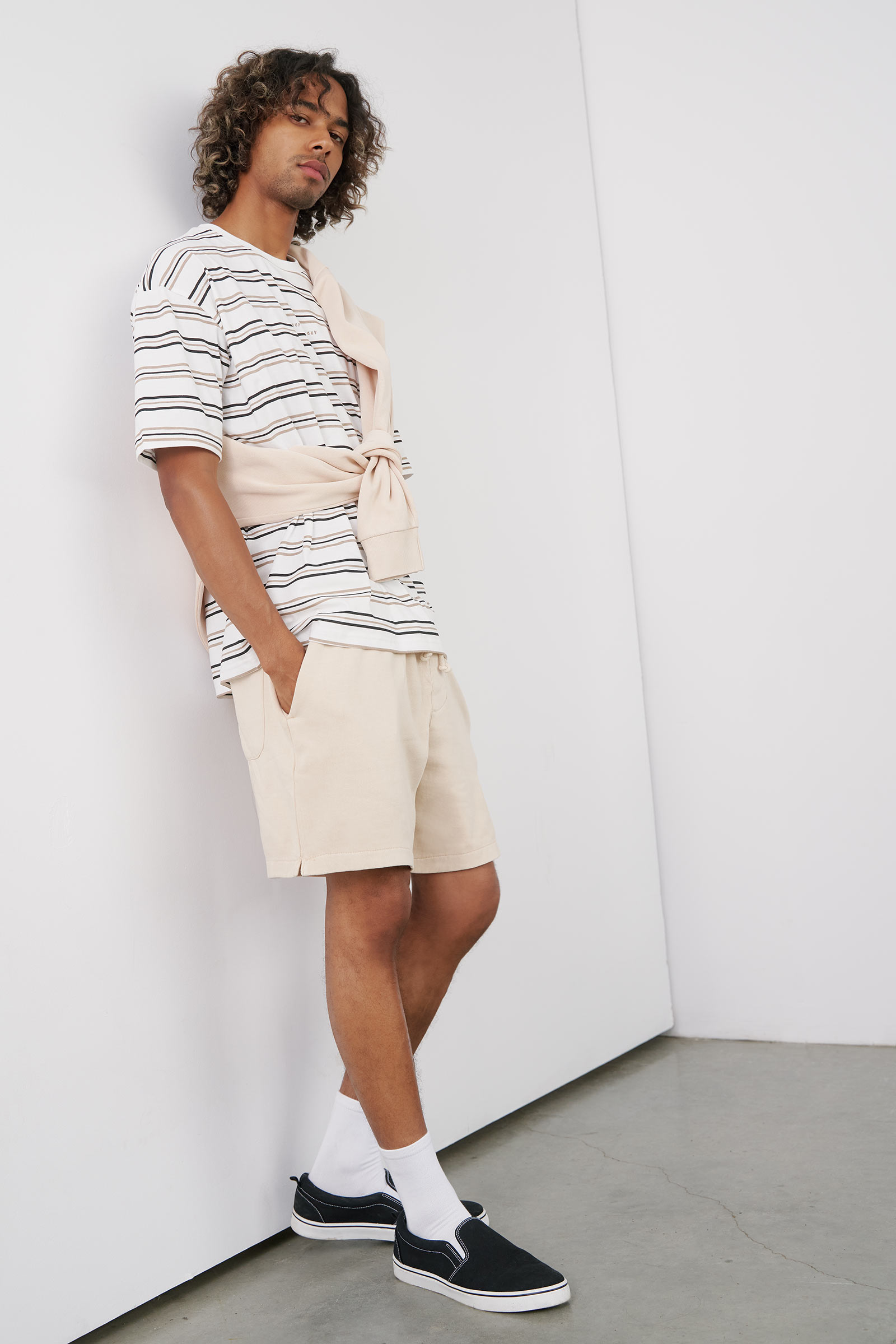 Striped Boxy Tee for Men