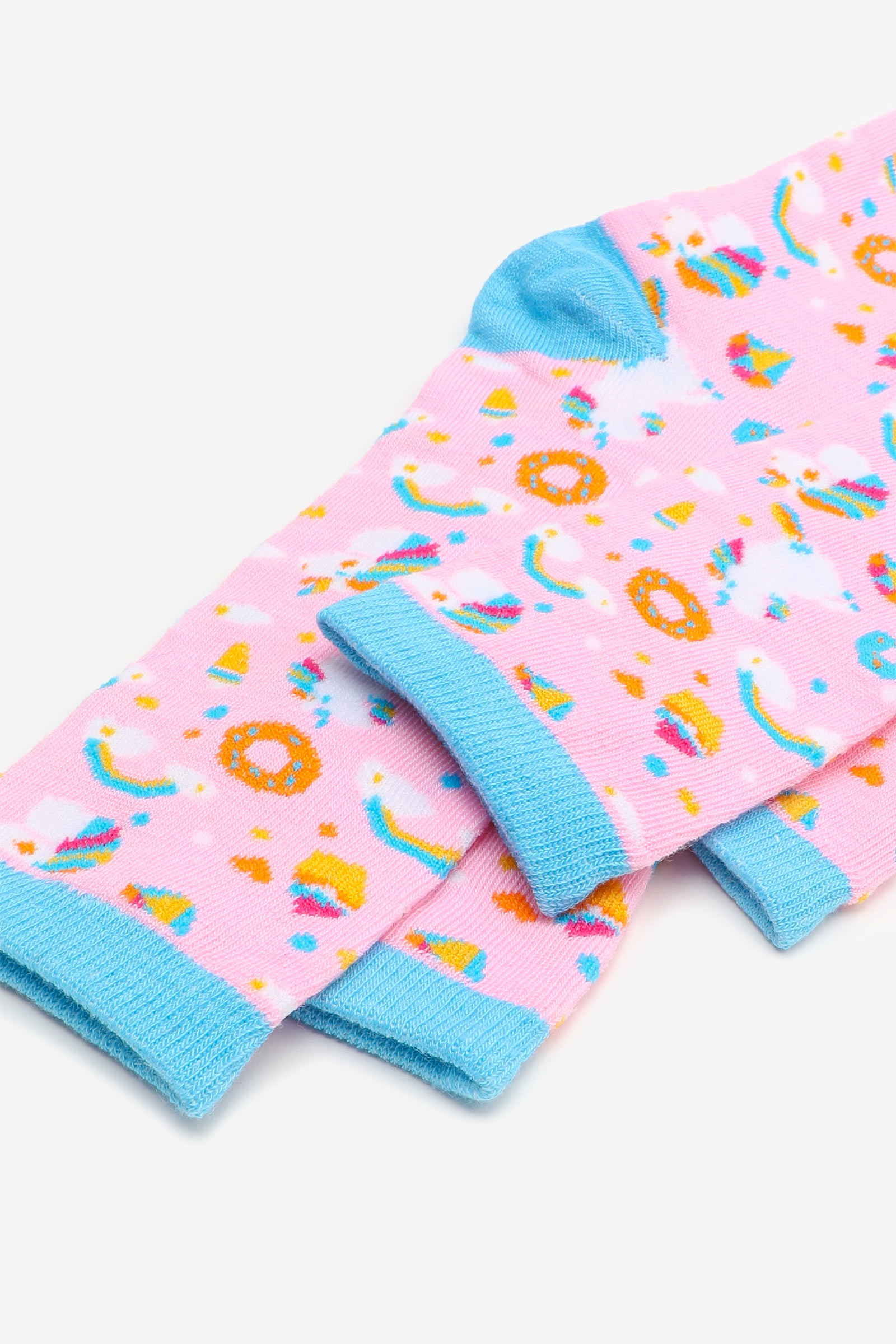 2 paires de chaussettes licorne