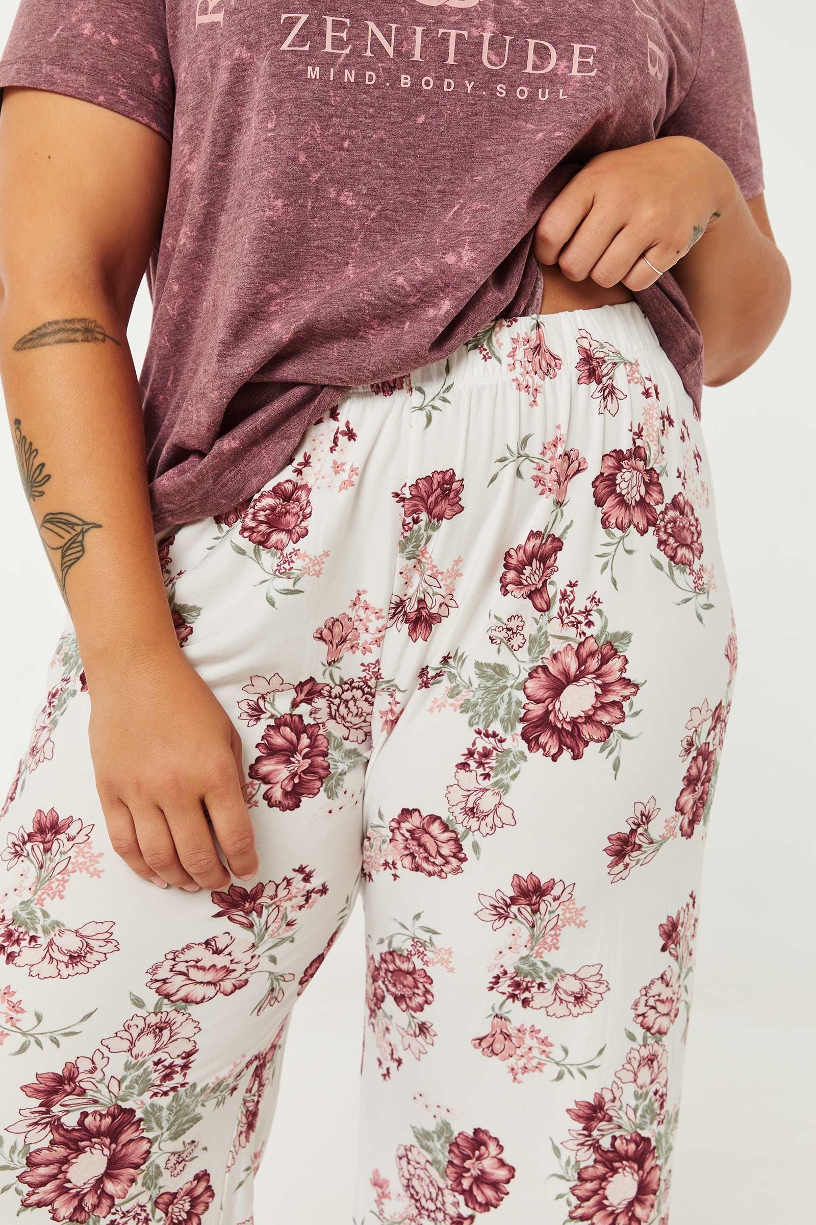 Floral Super Soft Flare PJ Pants