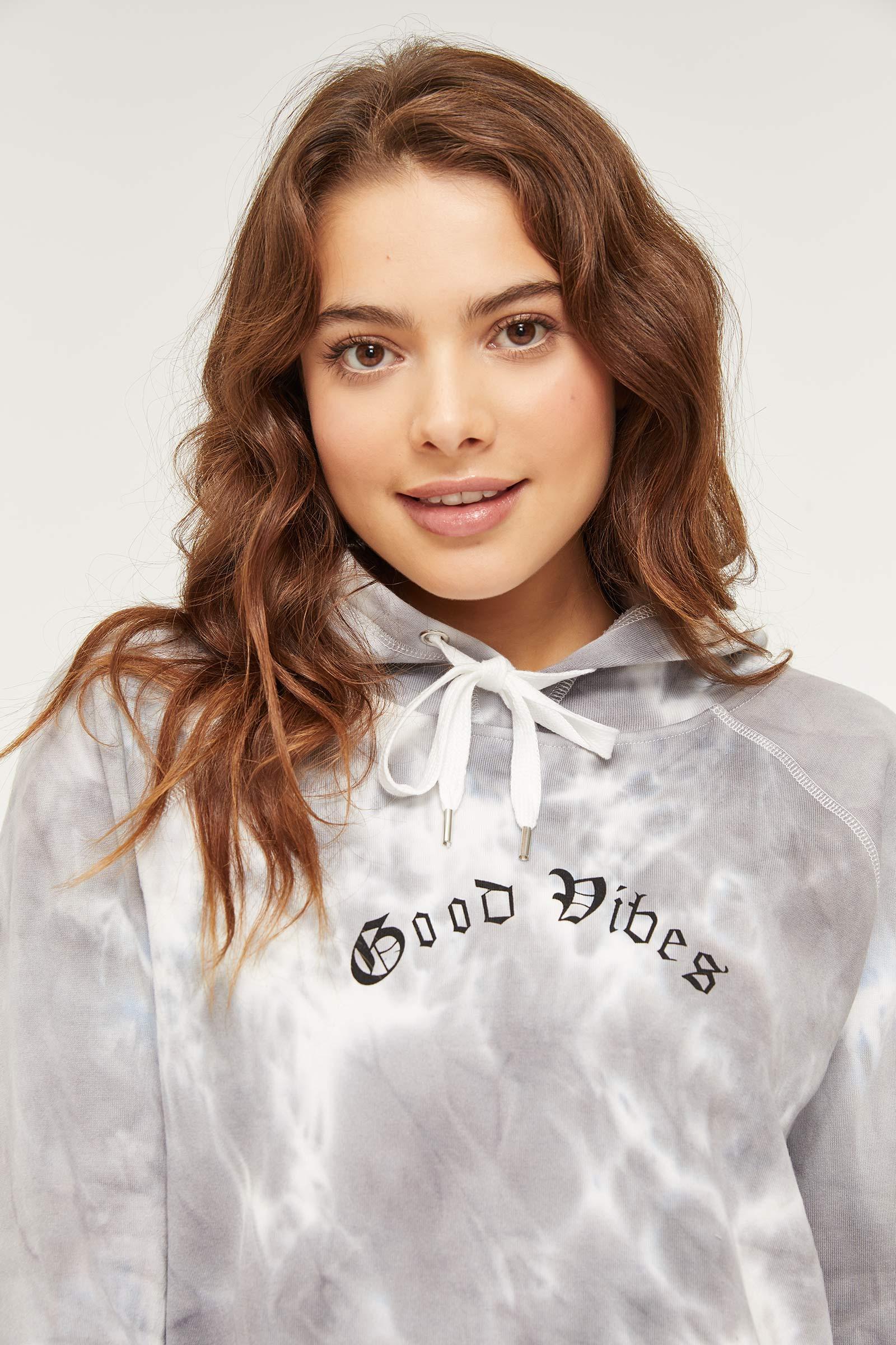 Good Vibes Tie-Dye Hoodie