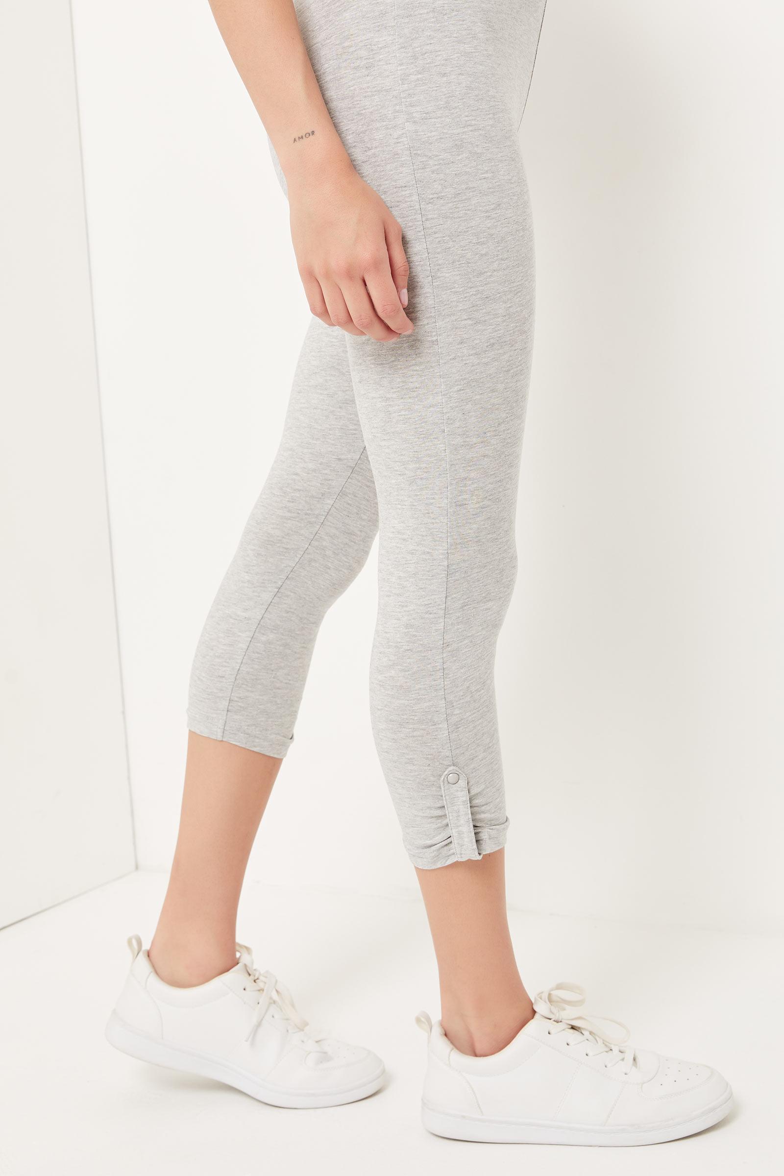 Legging capri à jambe ruchée
