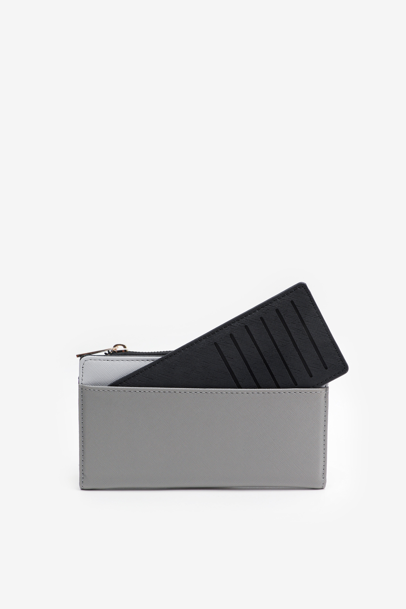 Colorblock Wallet with Removable Cardholder
