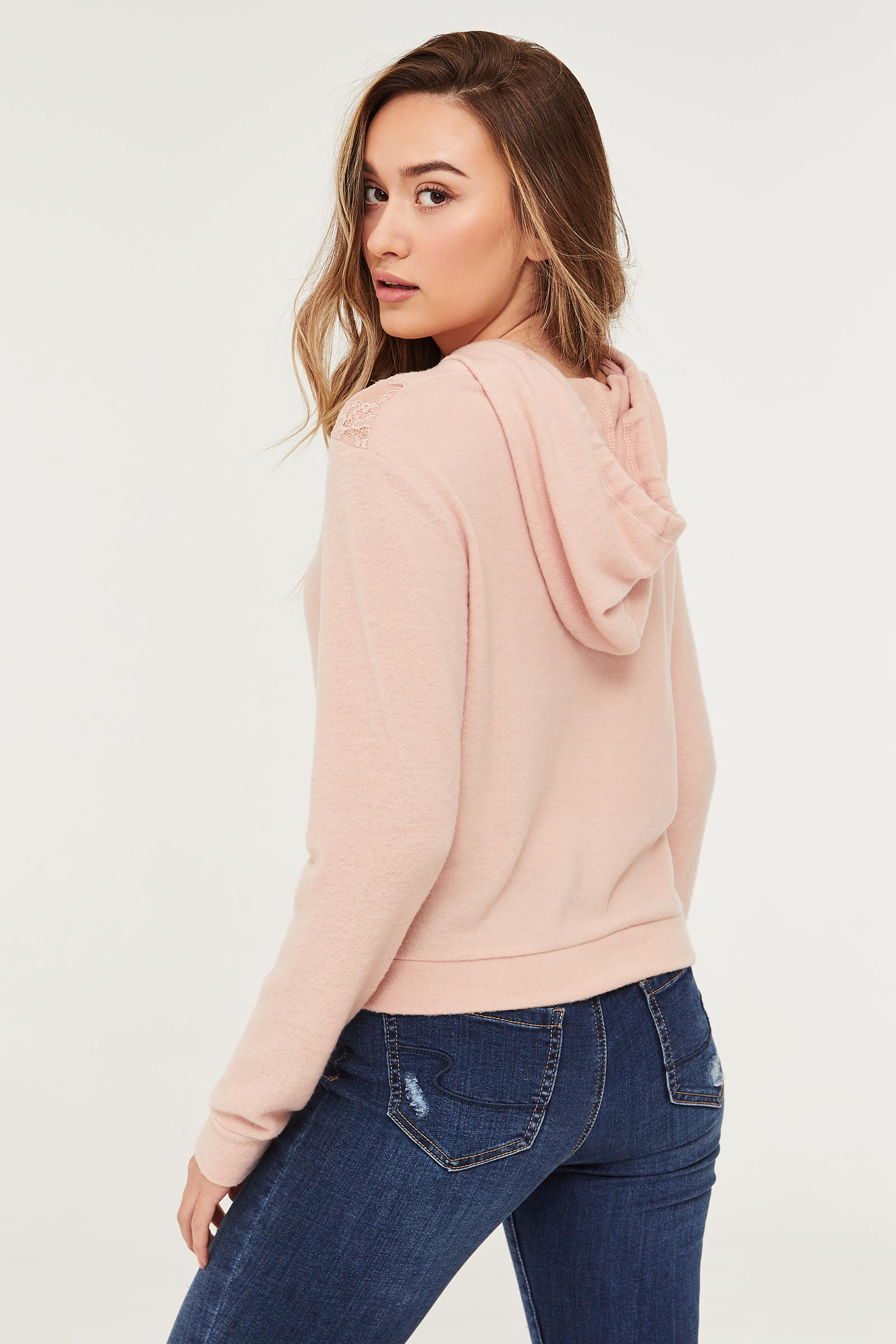 Soft Hoodie with Lace