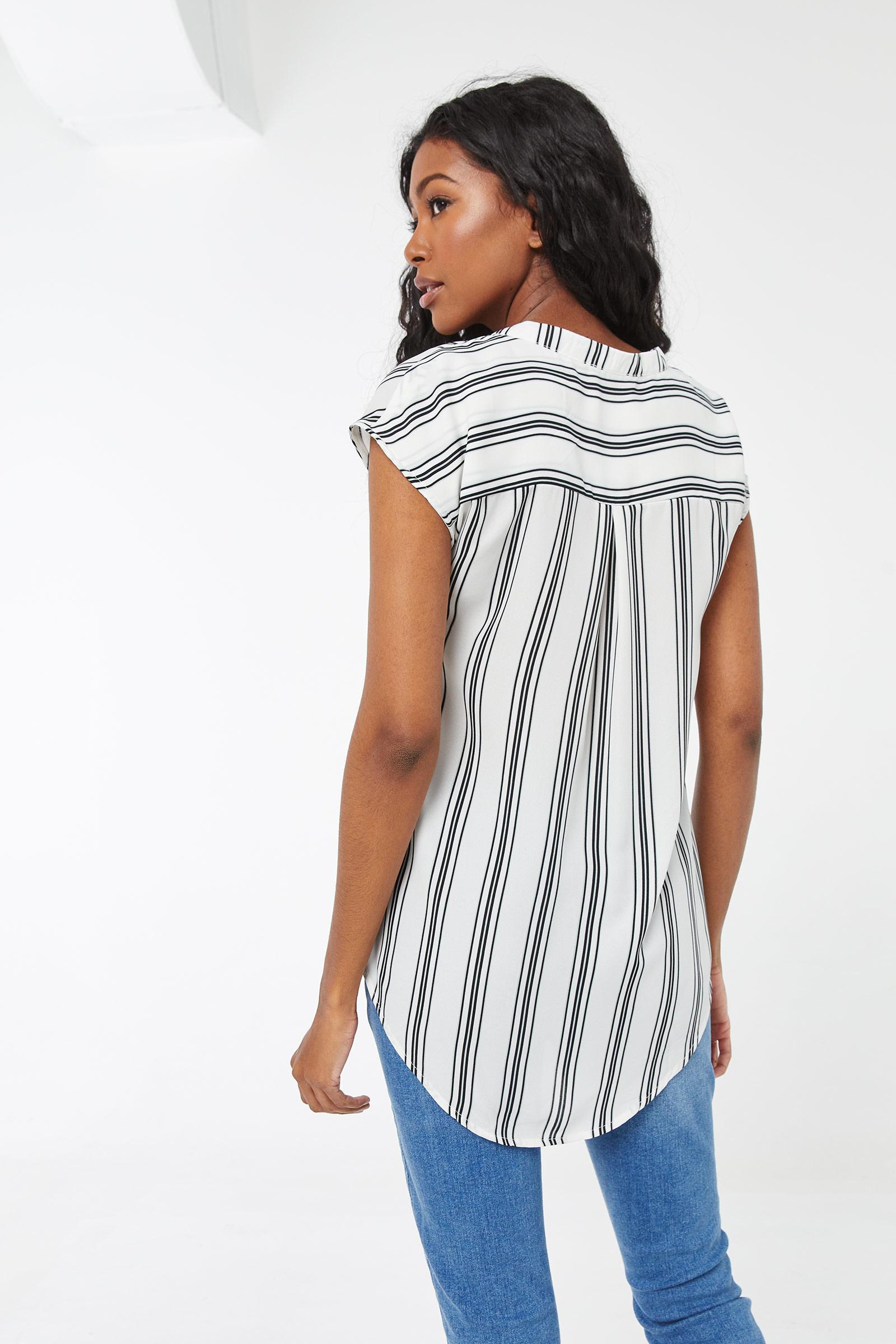 Basic Striped Dolman Blouse