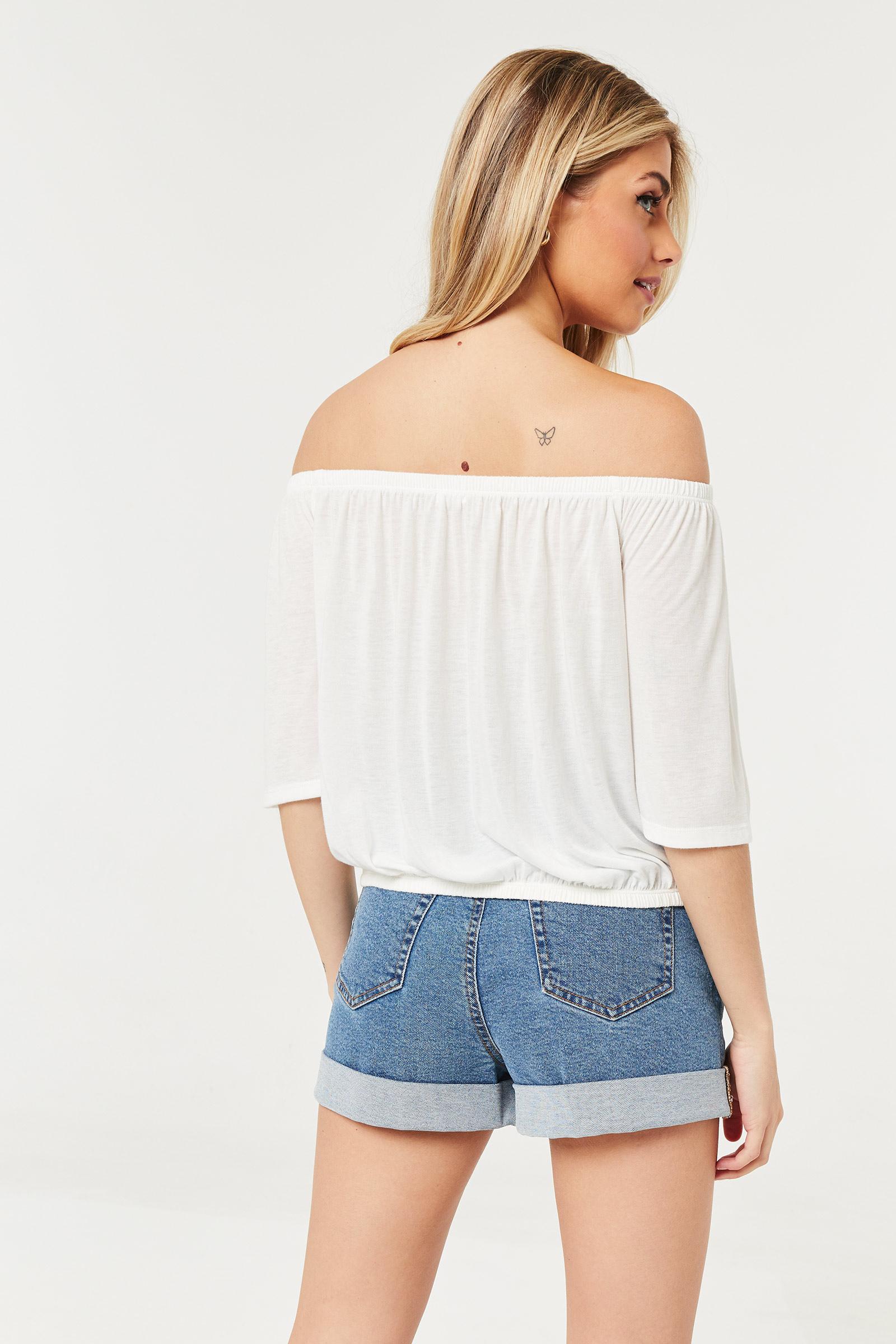 Off-Shoulder Crochet Top