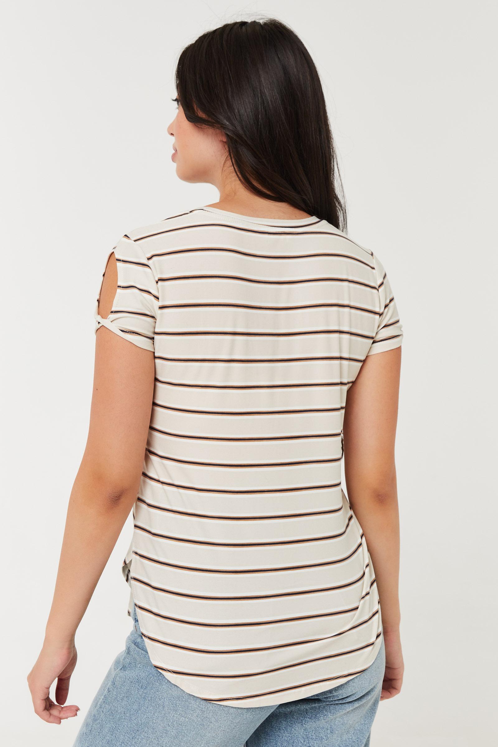 Striped Super Soft Tunic Tee