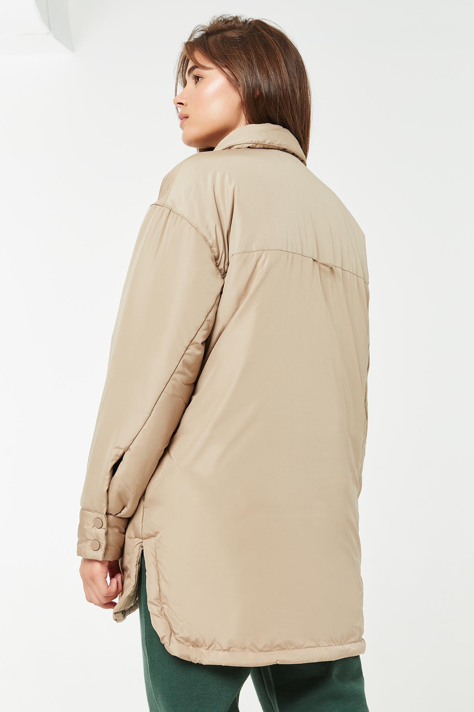 Veste-chemise ample rembourrée
