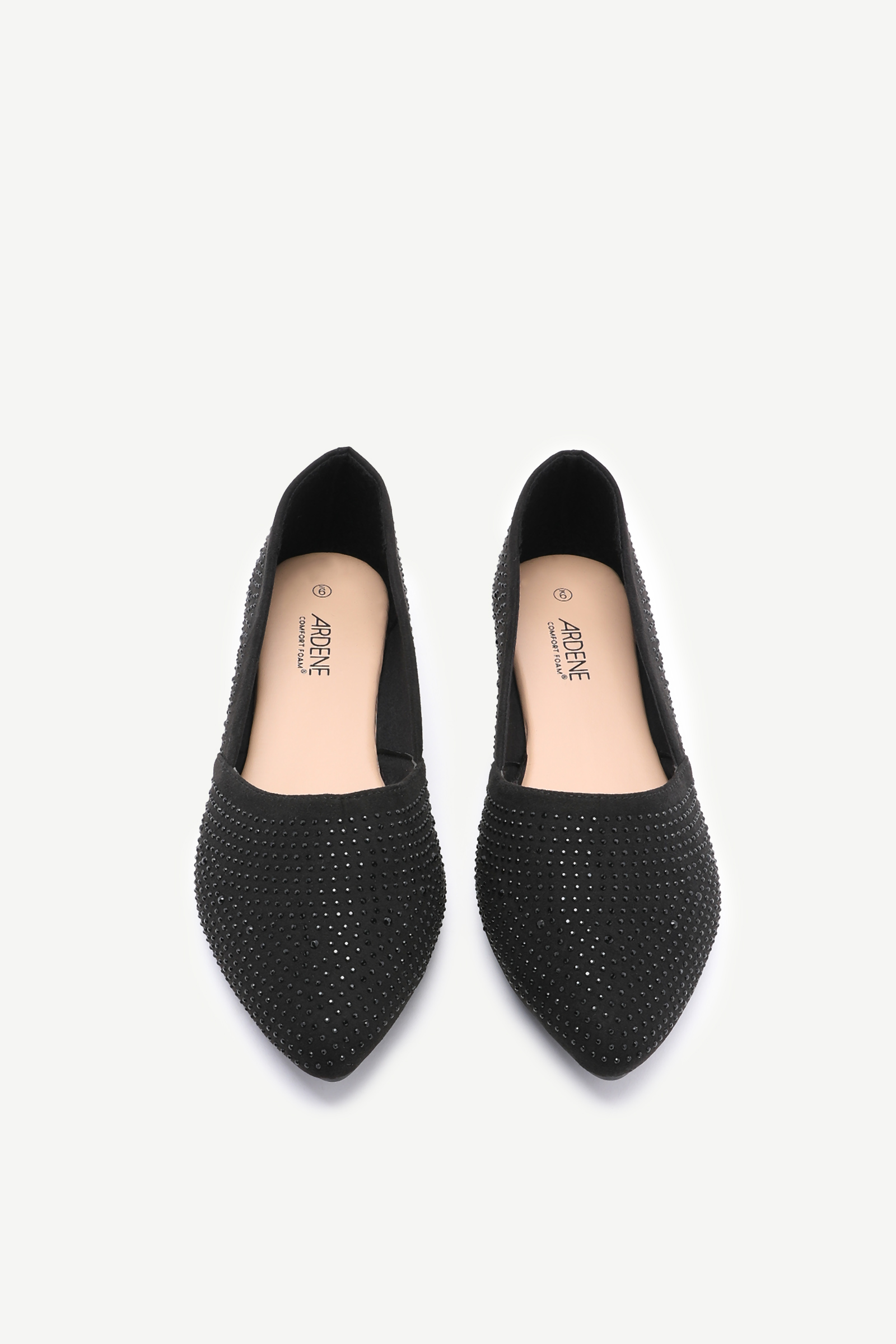 Studded Pointy Toe Flats