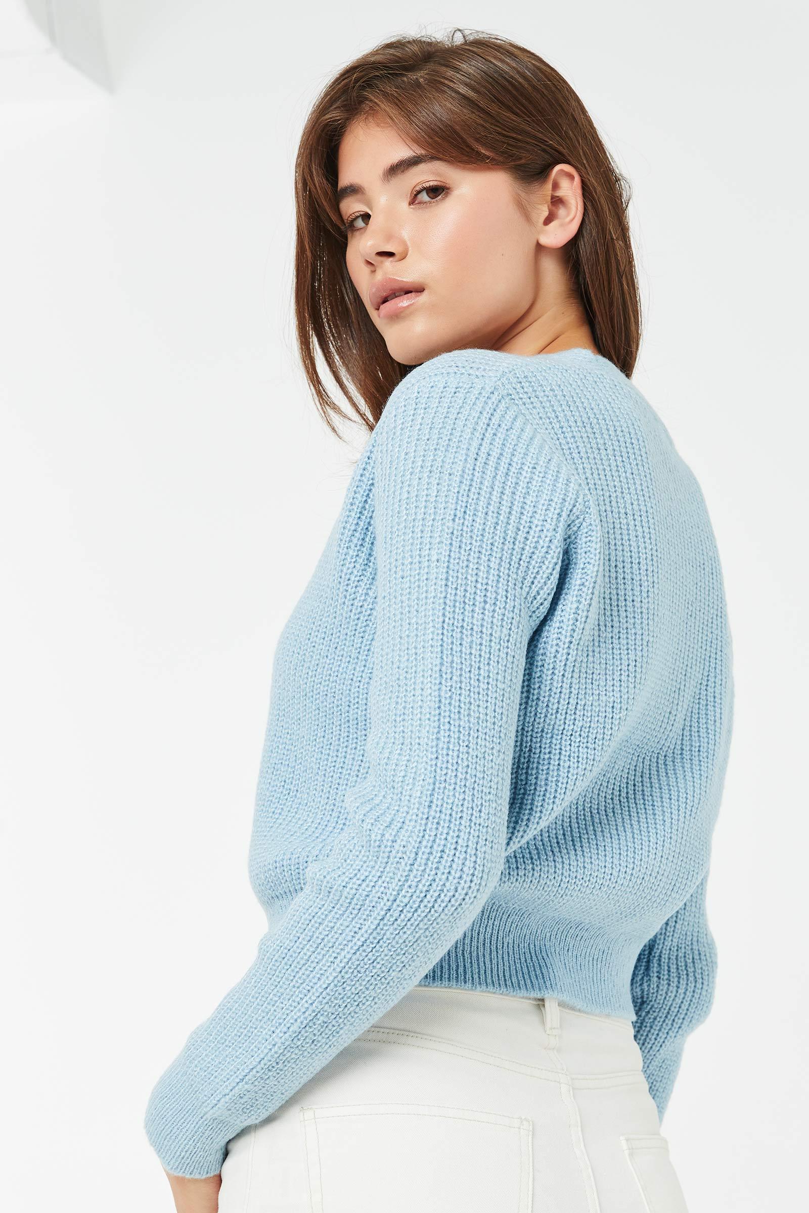 Cardigan en tricot col V
