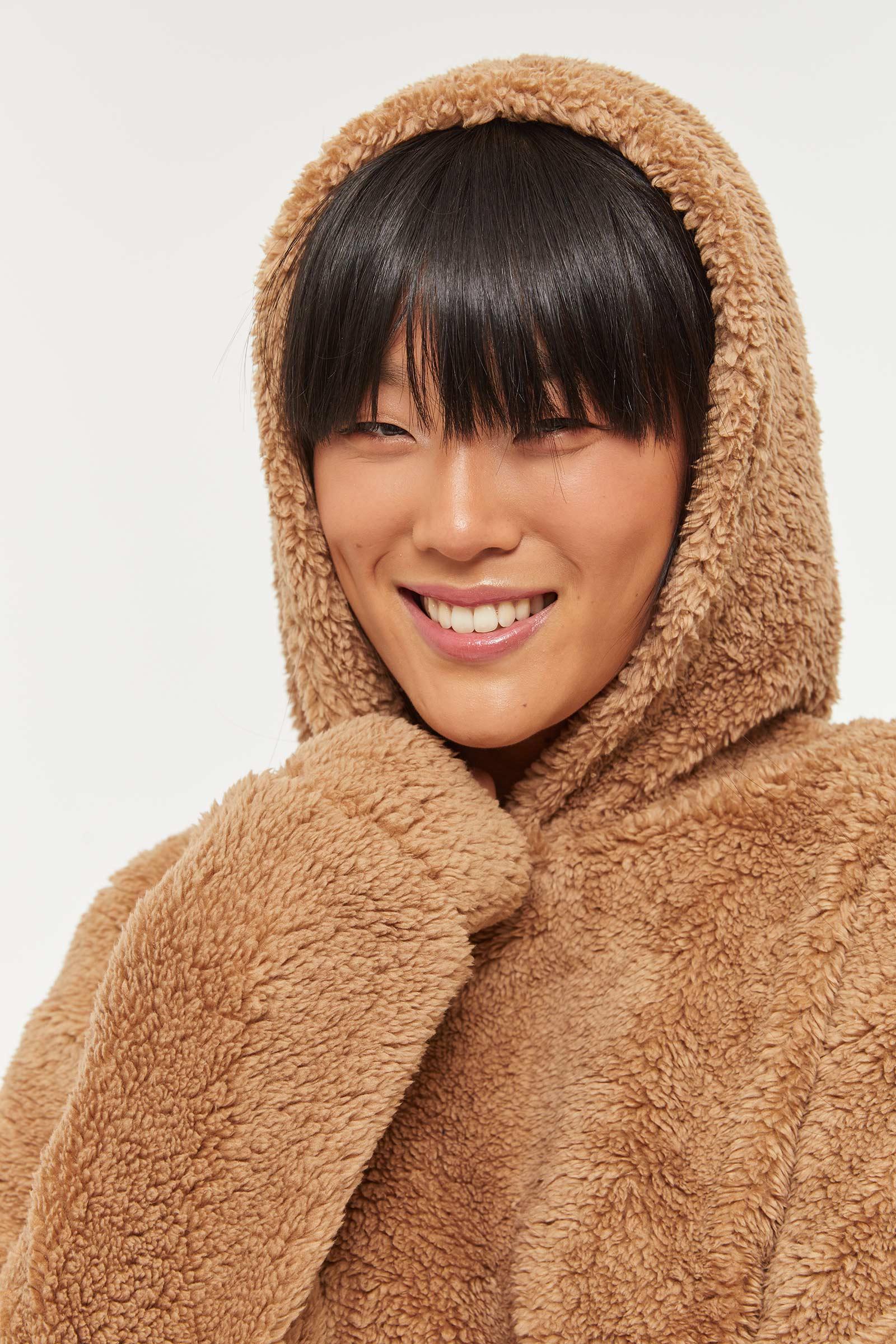 Faux Sherpa Hoodie