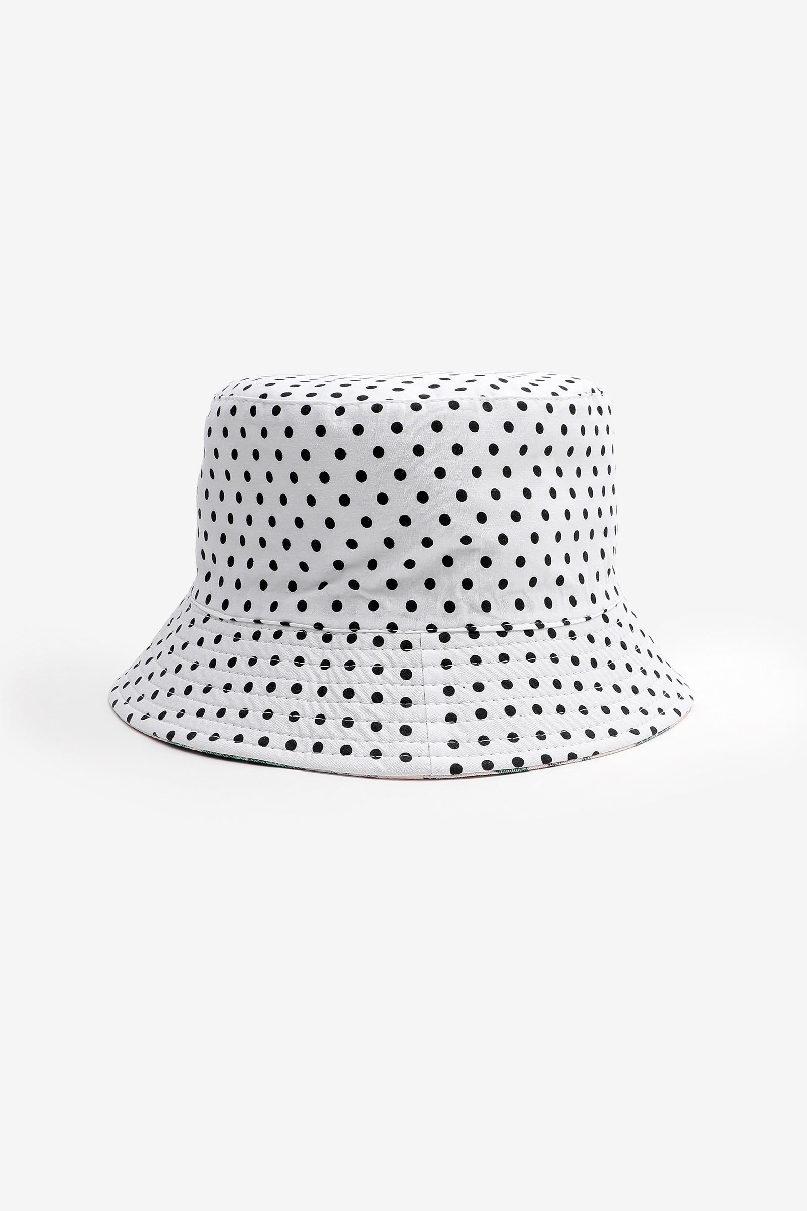 Chapeau de pêche réversible imprimé tropical