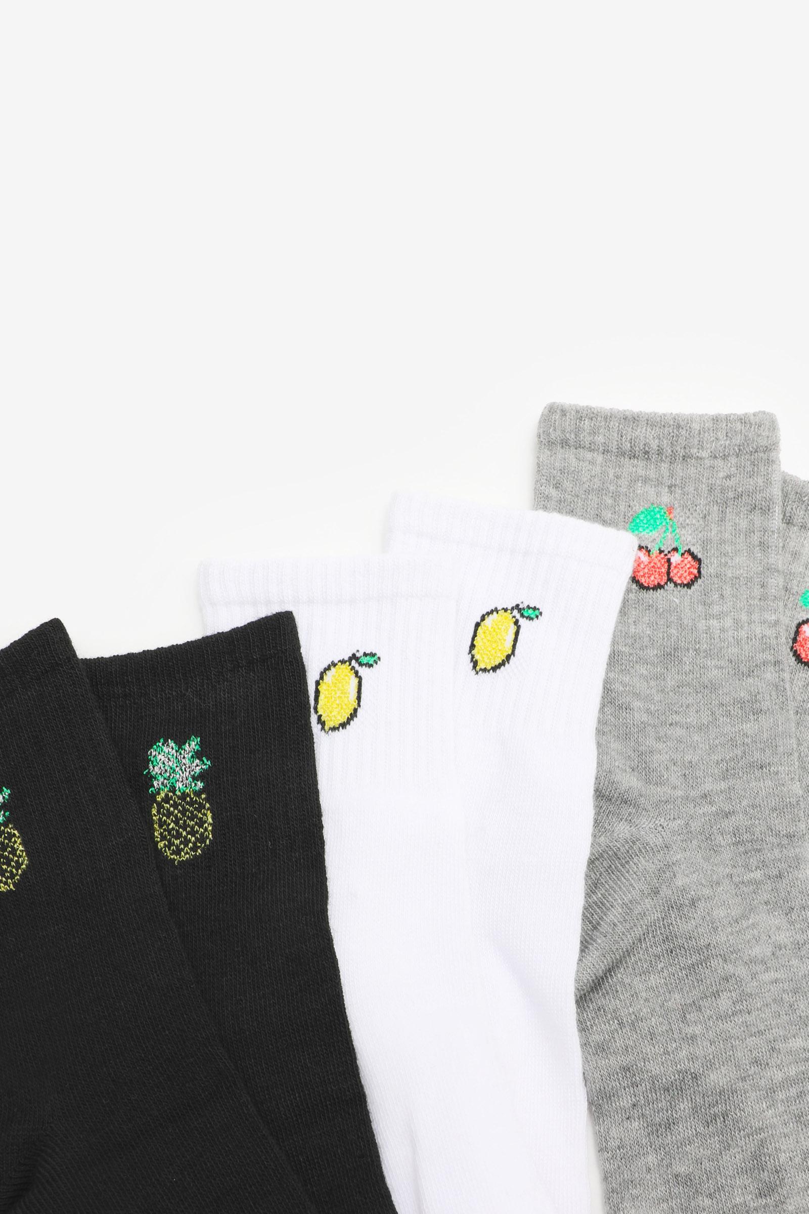 Embroidered Demi Crew Socks