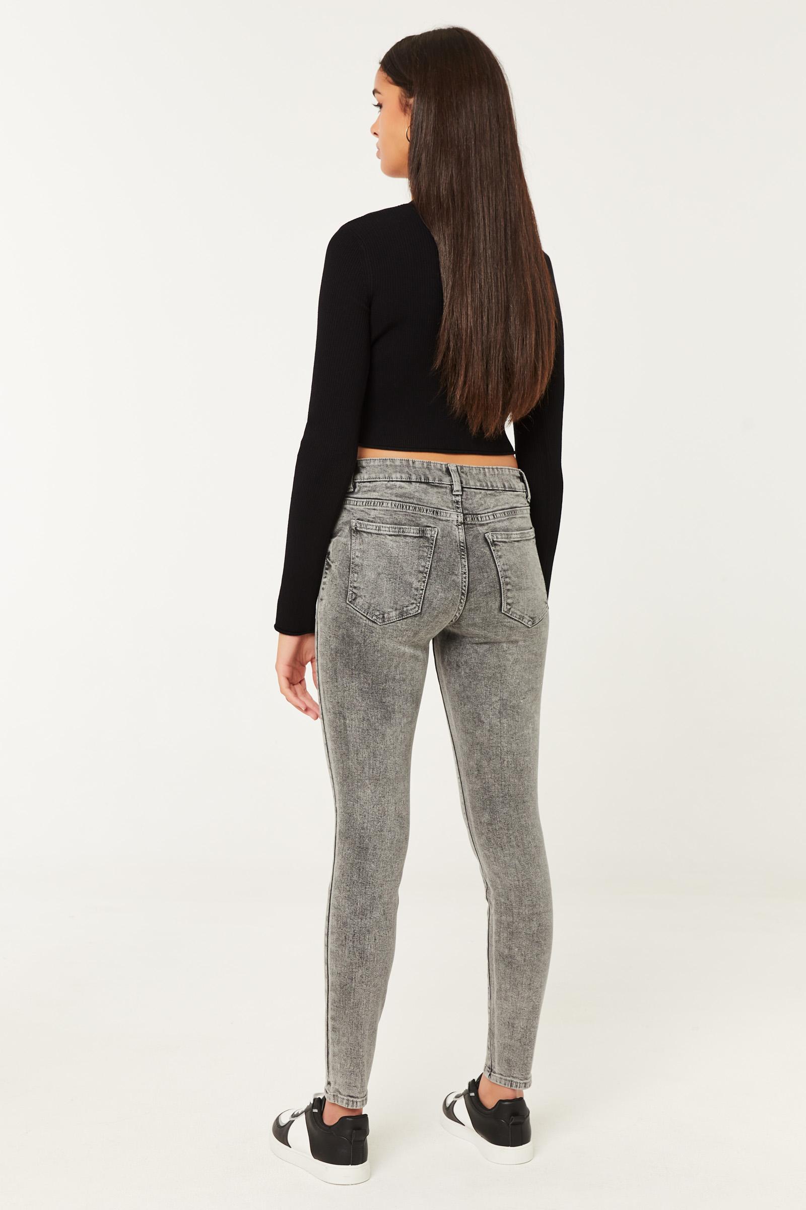 Regular Rise Skinny Jeans