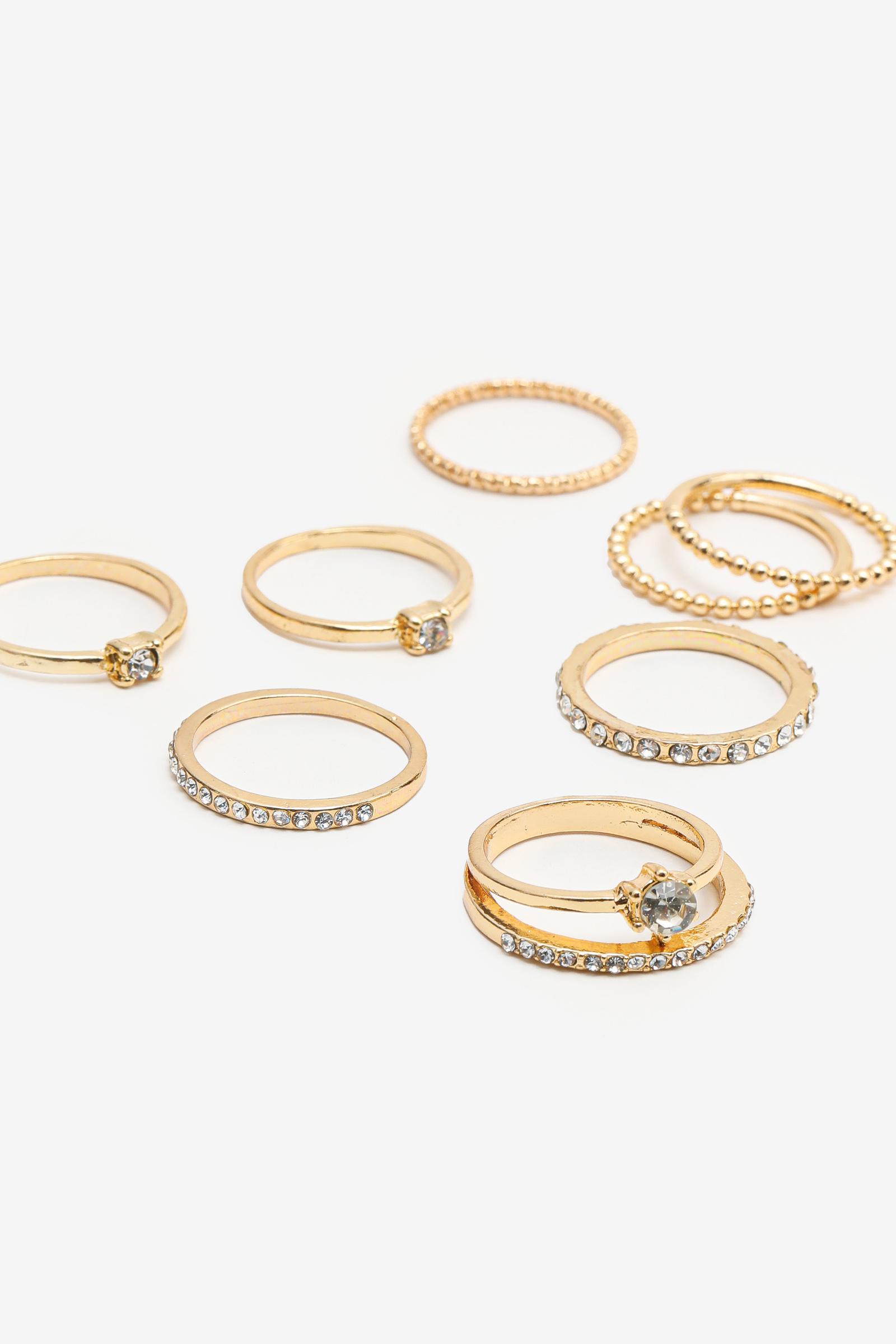 8-Pack Gemstone Rings
