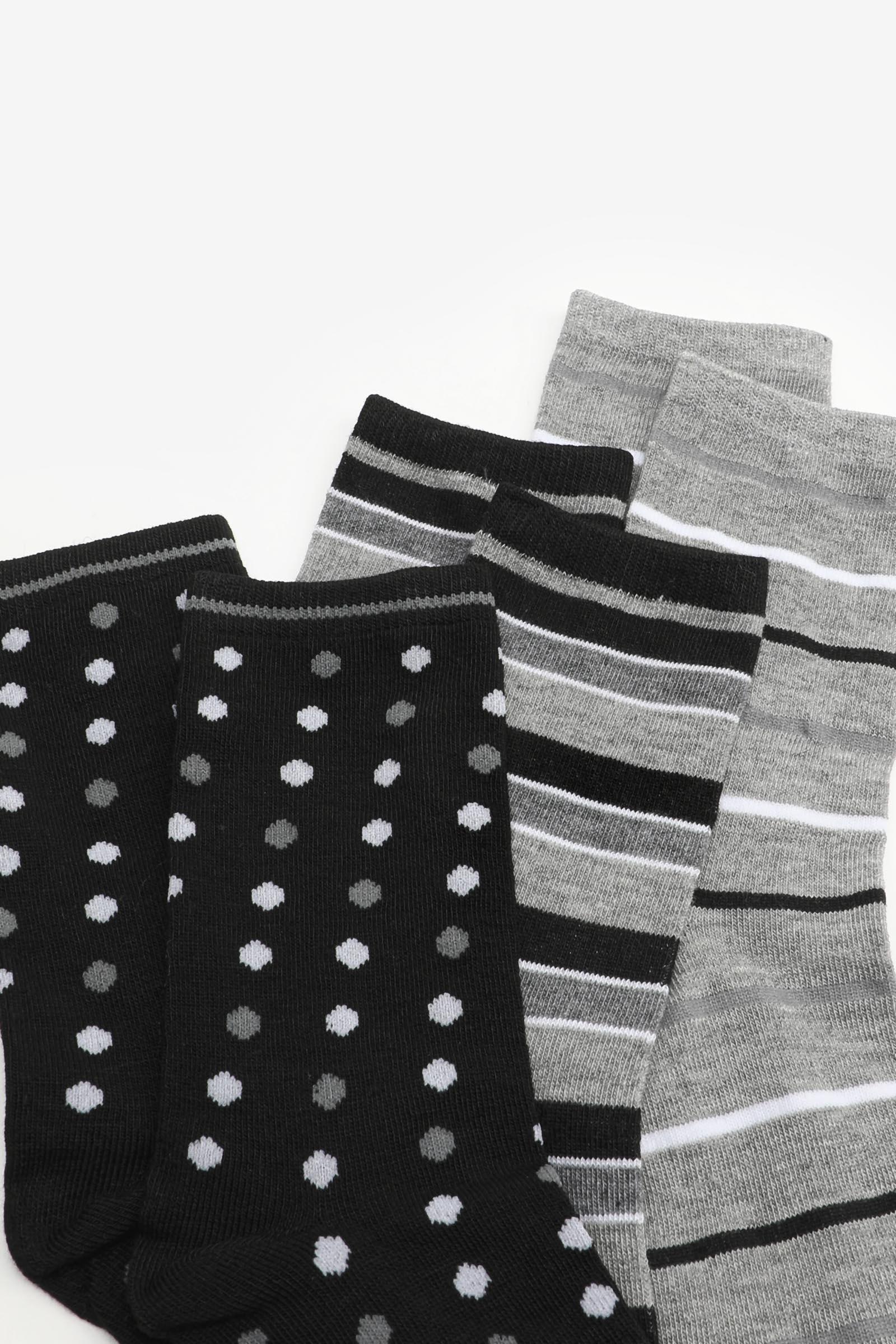 Polka Dot & Stripe Crew Socks