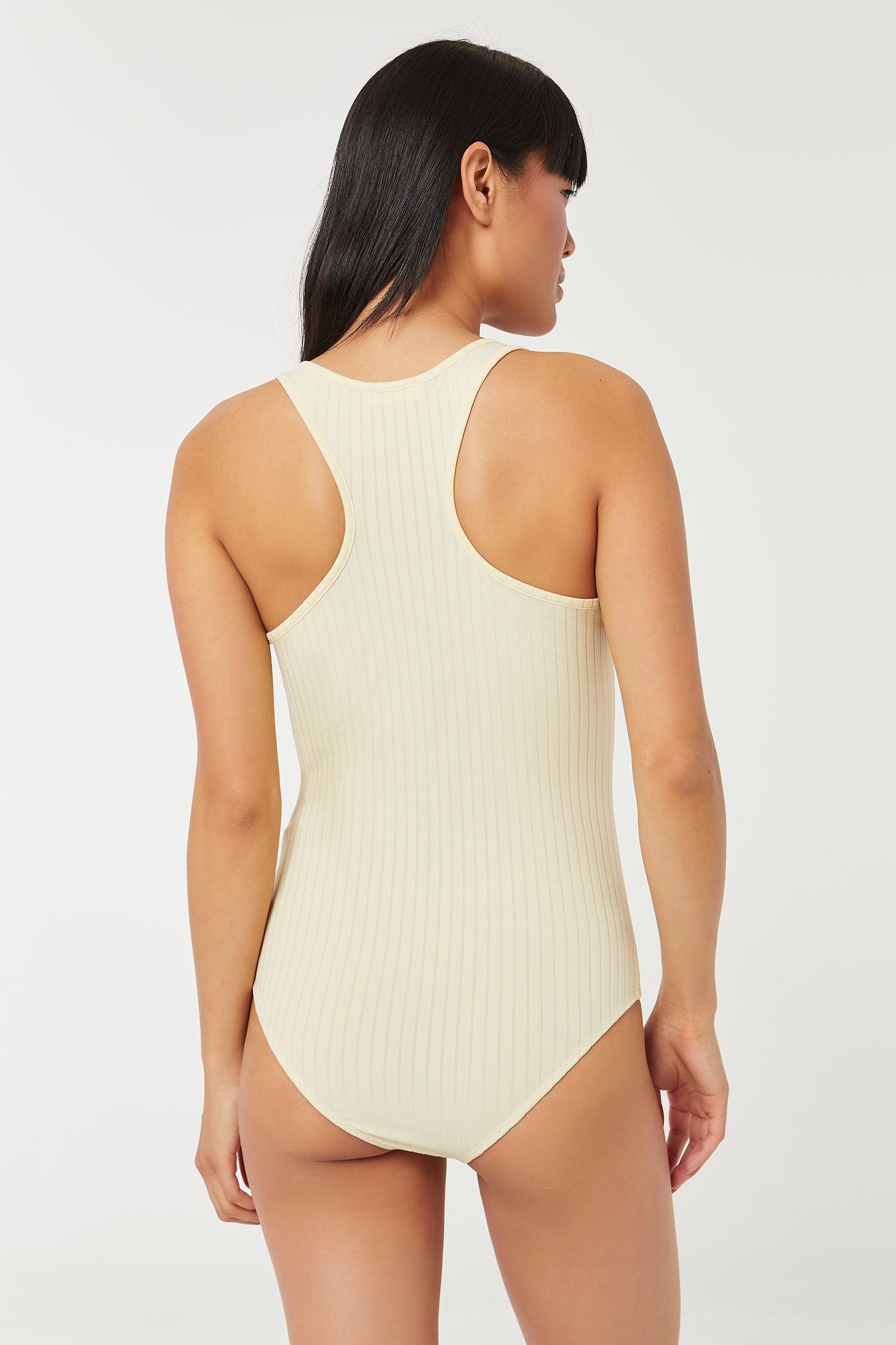 Bodysuit côtelé très doux à dos nageur