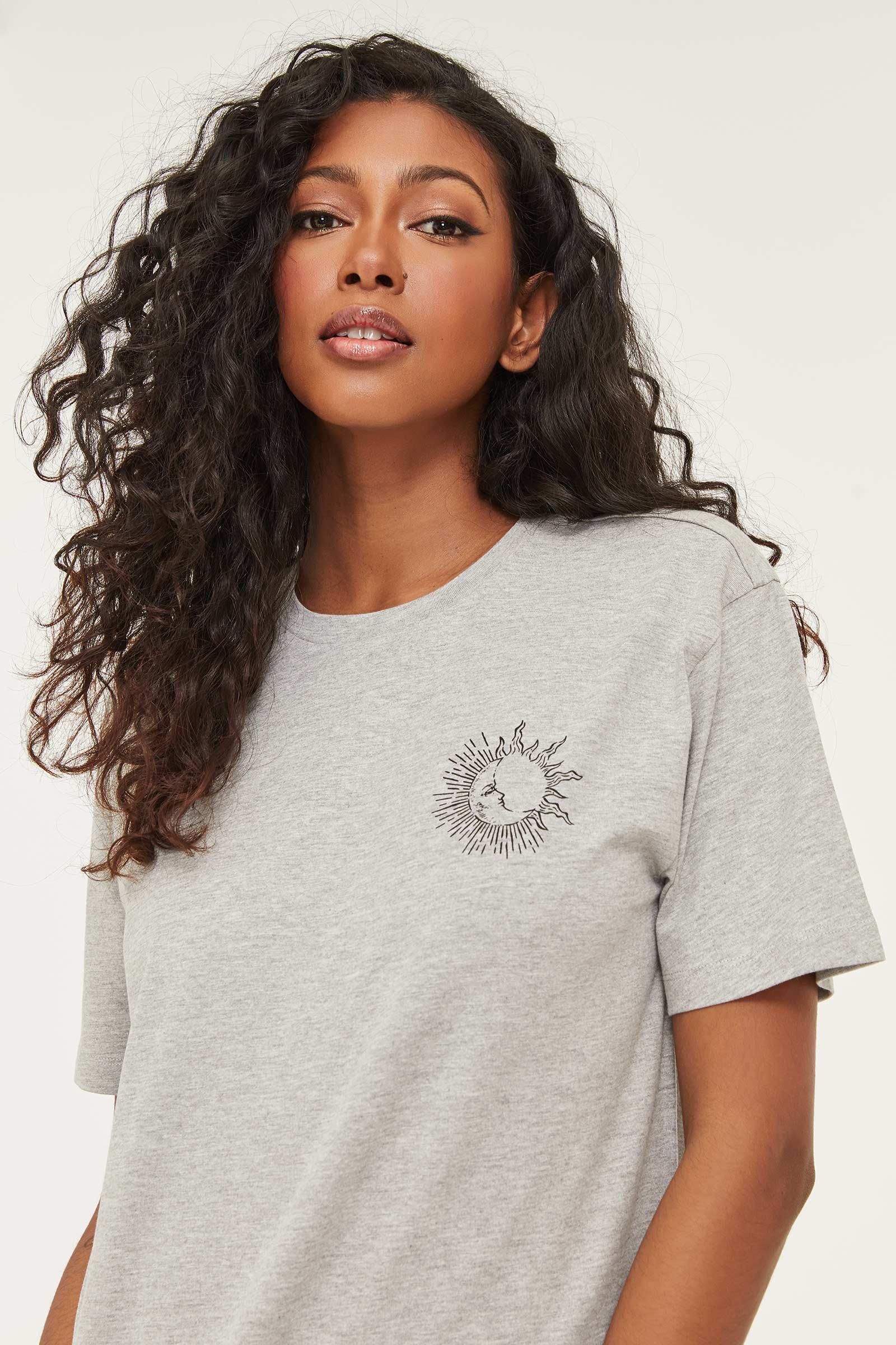 T-shirt lune et soleil en coton