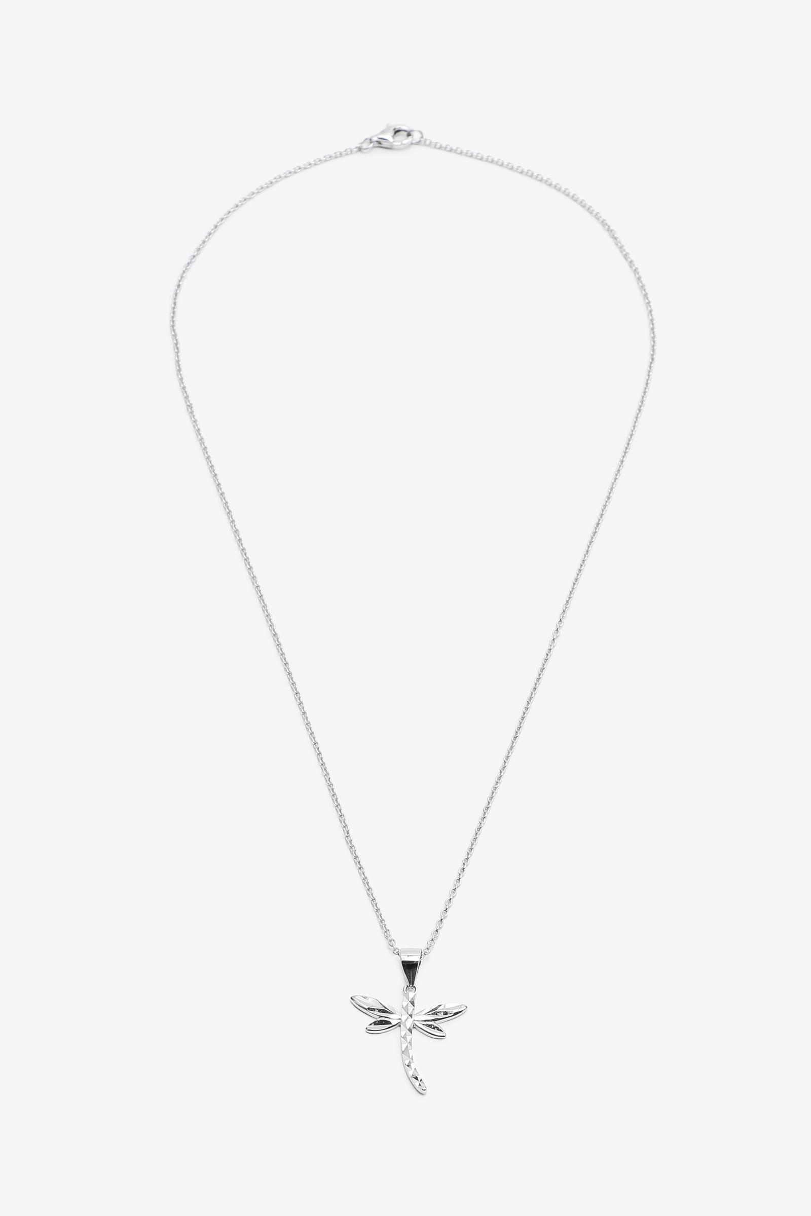 Collier à pendentif libellule en argent sterling