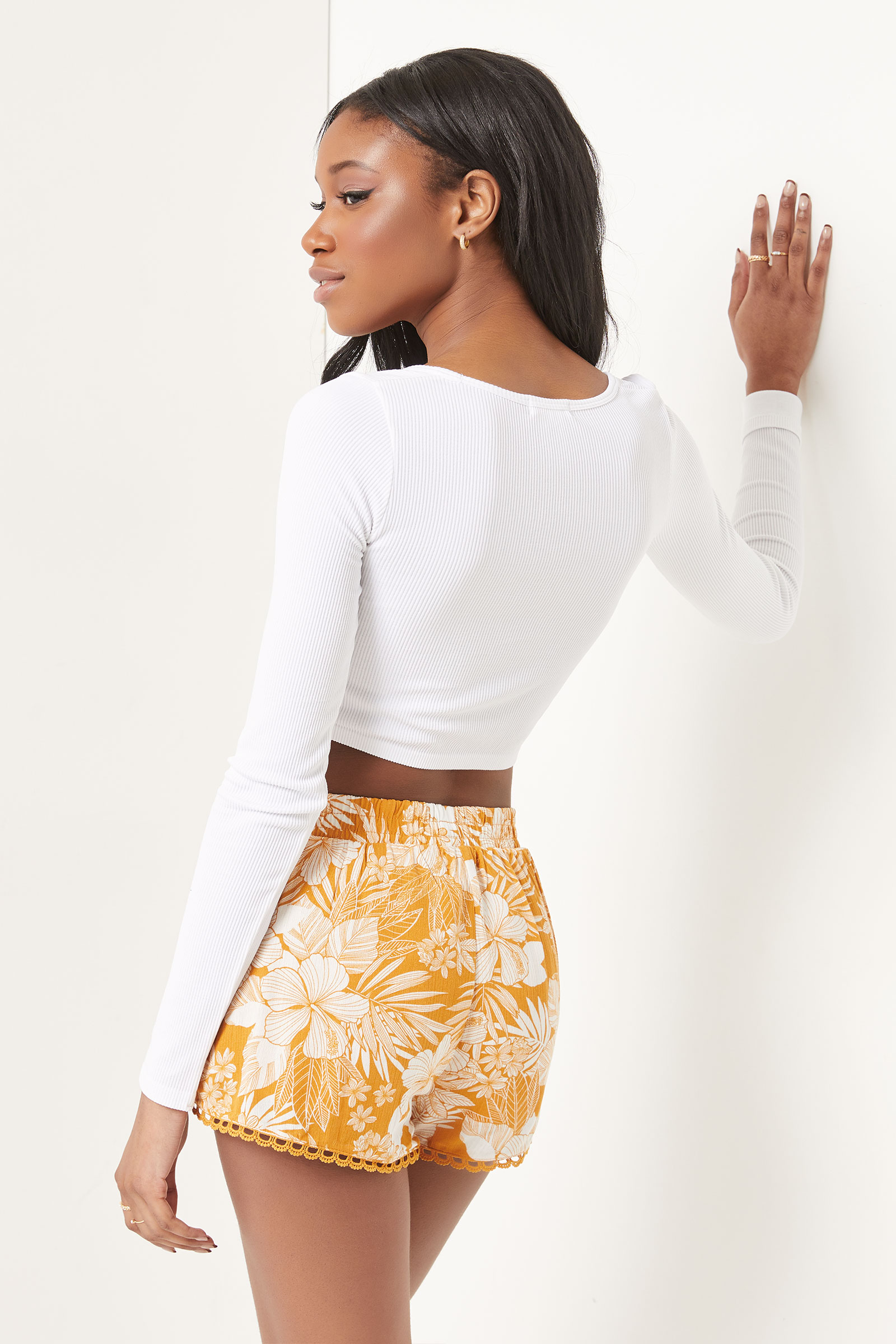 Floral Crochet Shorts