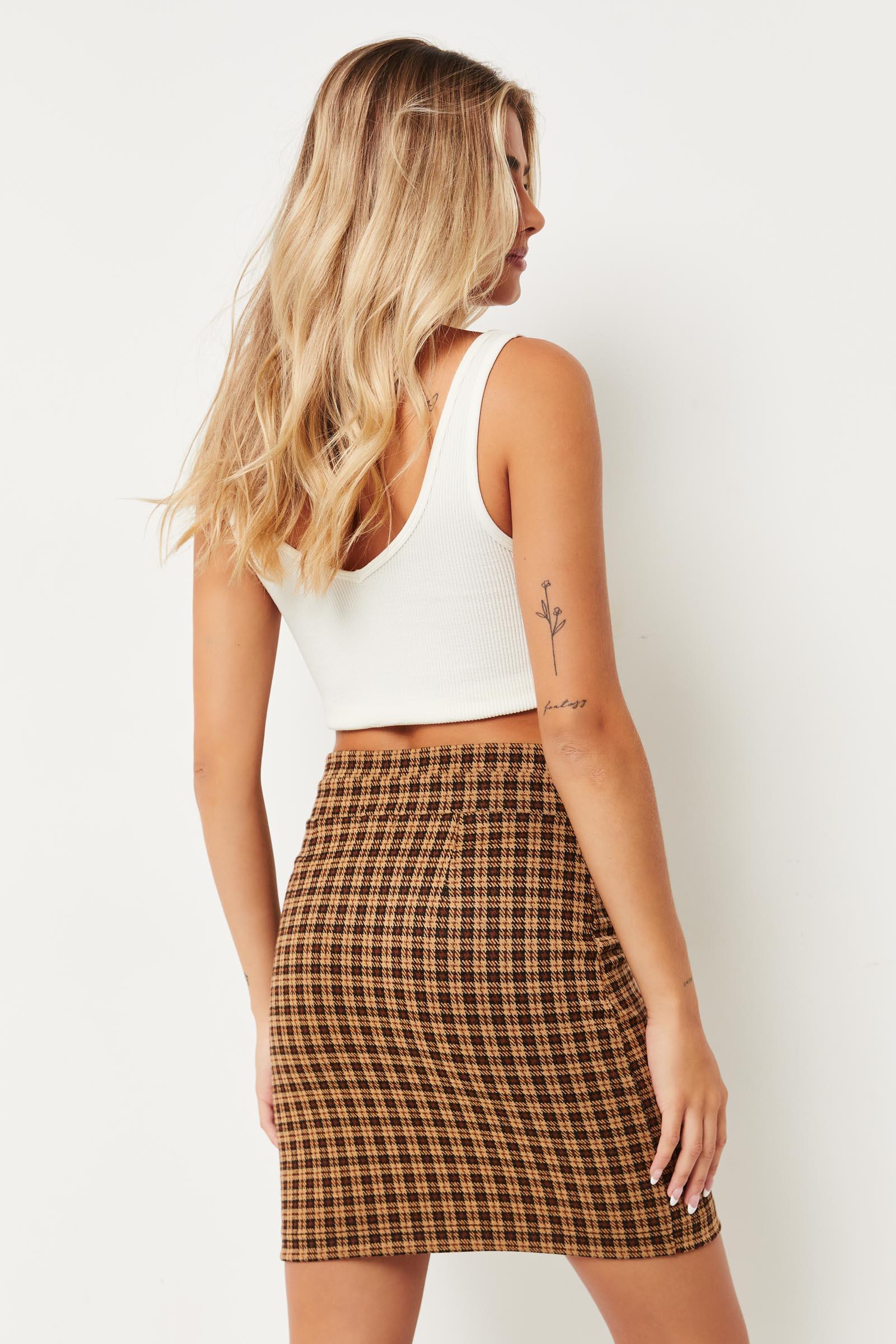 Jacquard Paper Bag Skirt